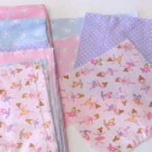 Beginner's 4x4 Square Little Ballet Dancer Blue Patchwork Quilt Kit